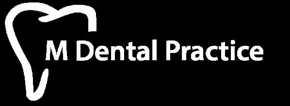 M Dental Practice White Logo